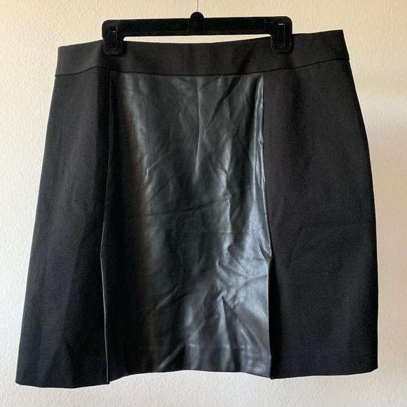 Banana Republic Dresses & Skirts - BR Vegan Leather Business Casual Mini Skirt